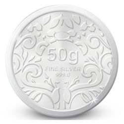 Amrapali Floret Silver Coin, 50 gm