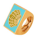 Shaze Gold-Plated Oyster Ring