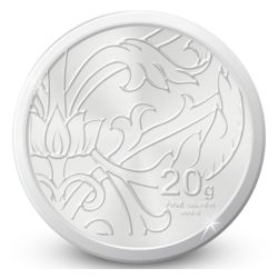 Amrapali Blossom Silver Coin, 20 gm
