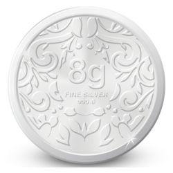Amrapali Floret Silver Coin, 8 gm