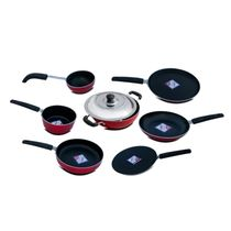 KG Star 8Pcs Non-Stick Combo (MCR1008), red and black