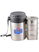 Cello Carbon 4 Stainless Steel Insulated Lunch Carrier