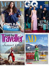 Vogue+ GQ+ Conde Nast Traveller+ Architectural Digest,(English 1 Year)