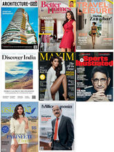 (ARCHITECTURE+ DESIGN) + (BETTER HOMES & GARDENS) + (TRAVEL+ LEISURE) + (DISCOVER INDIA) + (MAXIM) + (SPORTS ILLUSTRATED) + (ASIA SPA INDIA) + (MILLIONAIRE ASIA), (English, 1 Year)