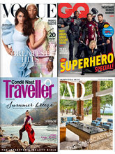 Vogue+ GQ+ Conde Nast Traveller+ Architectural Digest, 1 year, english