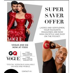 Vogue+ GQ (Combo), 1 year printdigital, english