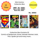 Mini Comics Collection Box, 1 year, english