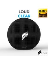 Leaf Pop- Portable Wireless Bluetooth Speaker with Mic, Loud and Clear Audio, SD card reader, Aux, FM Radio and PHONE STAND, carbon black