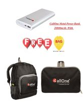 CallOne Metal Power bank 20800mAh with free CallOne Folding Bag Pack
