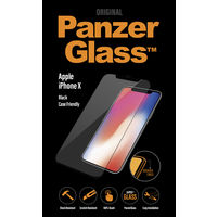 Panzer Temp Glass for iPhone X Black case friendly