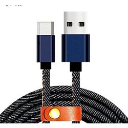 Detec Denim USB 2.0 Type - Lightning Port - Data Charging Cable