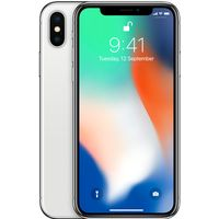 Apple iPhone X  64   GB,Silver