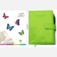 Tiara Pregnancy Journal And Record Book (Tiara-57), lime green
