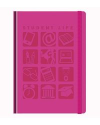 Tiara New Designer Student Life Notebooks Color Pink A5 Size