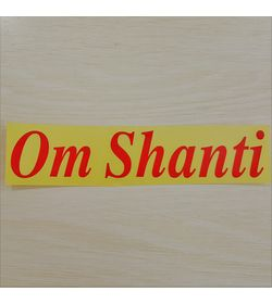 855 - Sticker - Radium - Om Shanti - English (Medium)