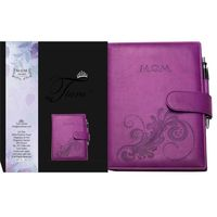 Tiara First Year Pregnancy Cum Planner M. O. M Diary Purple A5 Size Journal