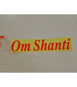 858 - Sticker - Radium - Om Shanti - English (Large)