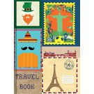 Tiara New Designer Travel Note Books Diary, multicolor