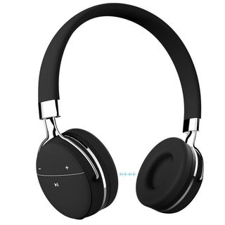 Portronics Muffs Pro Wireless Bluetooth Headphone with AUX Port (Black)