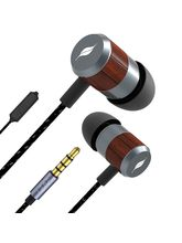 Leaf Bolt Wooden Wired Earphones with Mic