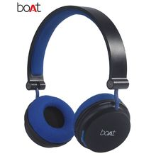 boAt Rockerz 400 On-Ear Bluetooth Headphones, black and blue