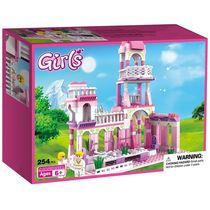 Webby Girls Princess Castle Royal Feast Kids Toys Bricks Construction, 254 Pieces