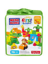 Mega Bloks First Builders Build A Dinosaur, 70 Pie...