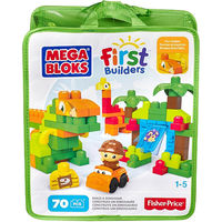 Mega Bloks First Builders Build A Dinosaur, 70 Pieces Bag, multicolor