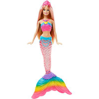 Barbie Rainbow Lights Mermaid Doll, Multicolor