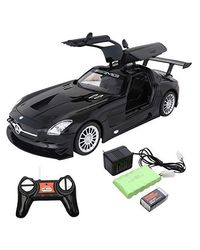 Webby 1: 16 Rechargeable R/C Mercedes Benz With Opening Doors (Black)