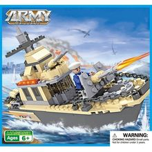 Webby Army Warship Building Blocks Toys Destroyer, 231 pieces