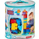 Mega Bloks Big Building Bag - 80 Pieces Blue