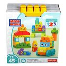 Mega Bloks 123 Counting Bus - 45 Pieces Multicolor