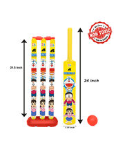 Itoys Doraemon Cricket Set With Plastic Ball-Sr Si...