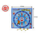 Itoys Doraemon 2 In 1 My First Play Board-Wooden Magnetic Dart & Write White Board, blue