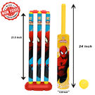 Itoys Marvel Ultimate Spiderman Cricket Set With Plastic Ball-Sr Size-Plastic, multicolor