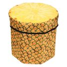 Dimpy Stuff Foldable Kids Stool with Soft Seat - Pineapple Theme