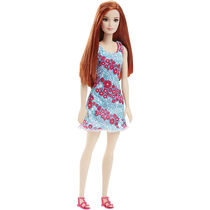 Barbie Doll In Pink And Green Dress