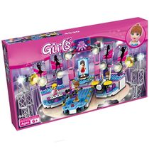 Webby Girls Super Star Audio Arena Music stage Building Blocks, 400 Pcs