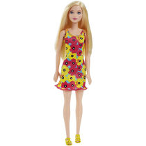 Barbie Doll In Pink And Yellow Dress