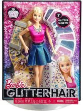 Barbie Glitter Hair Design Doll - Multicolor