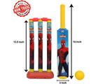Itoys Marvel Ultimate Spiderman My First Cricket Set-Plastic, yellow