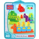 Mega Bloks Match My Shapes, 40 Pieces Bag, multicolor