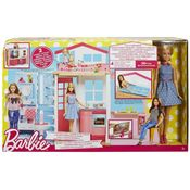 Barbie 2 Story House And Doll, multicolor