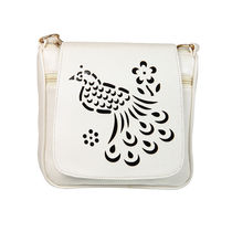Adine White Women Sling Bag