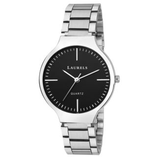 Laurels Black Color Analog Women's Watch With Meta...