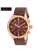 Laurels Curren Copper Dial Men Watch (Lo-Crn-050906)
