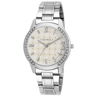 Laurels White Color Analog Women's Watch With Meta...