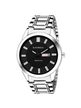 Laurels Invictus Day Date Black Dial Men's Wrist W...