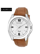 Laurels Diplomat White Dial Men Watch (Lo-Dip-301)